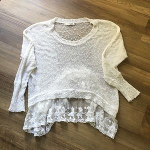 Millau Open Knit Lace Sweater